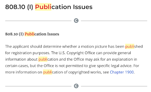 copyright compendium how to use text highlight