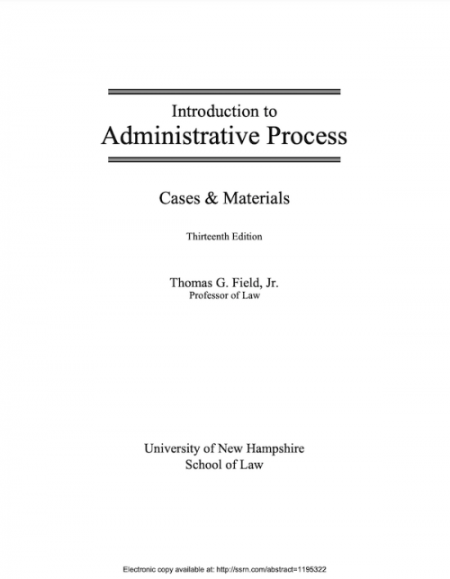 administrative law casebook cover open access