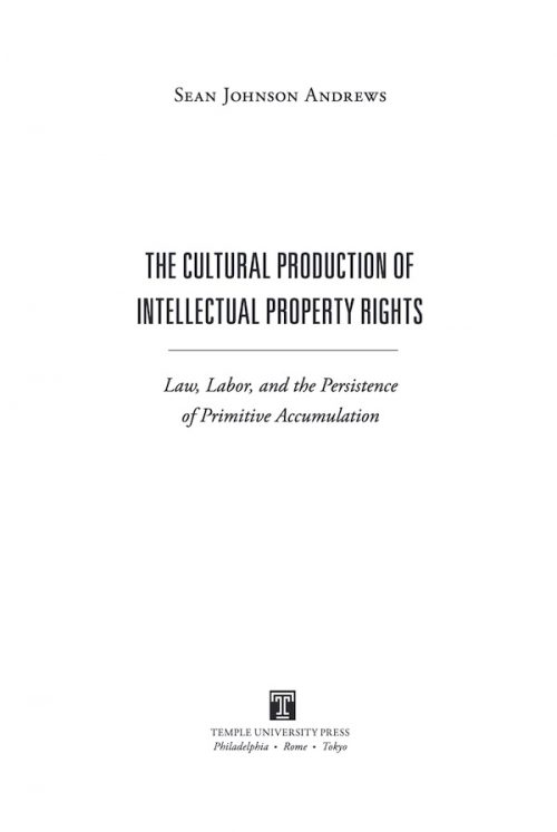cultural production of intellectual property rights cover